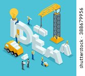 isometric construction business ... | Shutterstock .eps vector #388679956