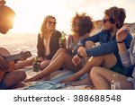 portrait of group of young... | Shutterstock . vector #388688548