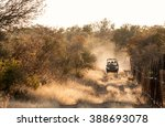 game drive vehicle on an early... | Shutterstock . vector #388693078