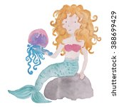 Mermaid Blond With Jellyfish...