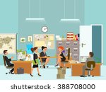scenes of people working in... | Shutterstock .eps vector #388708000