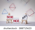 the words science and art... | Shutterstock . vector #388715623