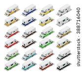 camper  camper cars  set a... | Shutterstock .eps vector #388716040