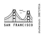 golden gate bridge of san... | Shutterstock .eps vector #388719016