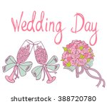wedding vintage elements with... | Shutterstock .eps vector #388720780