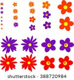 colorful isolated vector flower ... | Shutterstock .eps vector #388720984