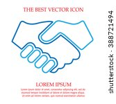 partnership vector. handshake... | Shutterstock .eps vector #388721494