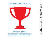 trophy cup vector icon eps 10.... | Shutterstock .eps vector #388721548
