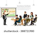 business teacher giving lecture ... | Shutterstock .eps vector #388721980