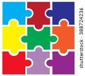 vector puzzle | Shutterstock .eps vector #388724236
