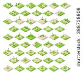 isometric city park furniture.... | Shutterstock . vector #388728808