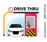 Drive Thru Sign. Illustration...