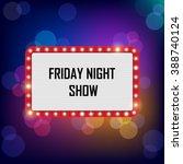 vector neon shining bigboard in ... | Shutterstock .eps vector #388740124