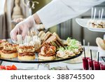 catering banquet table | Shutterstock . vector #388745500
