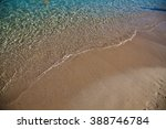 Clear Water On The Beach Of Th...