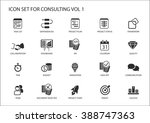 vector icon set for topic... | Shutterstock .eps vector #388747363