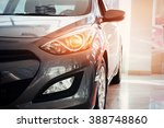 the headlights and the hood of... | Shutterstock . vector #388748860