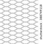 isometric linear seamless... | Shutterstock .eps vector #388749118
