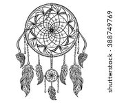 dream catcher with ornament.... | Shutterstock .eps vector #388749769