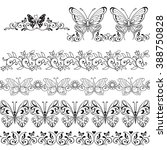 set of floral borders with... | Shutterstock .eps vector #388750828