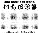 800 business glyph icons. style ... | Shutterstock . vector #388750879