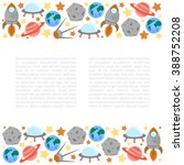 space theme   set of flat... | Shutterstock .eps vector #388752208