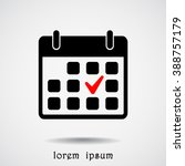 calendar sign icons  vector... | Shutterstock .eps vector #388757179