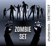 raster version. set of zombie... | Shutterstock . vector #388758019