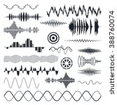 vector sound waves set. audio... | Shutterstock .eps vector #388760074