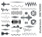 vector sound waves set. audio... | Shutterstock .eps vector #388760083