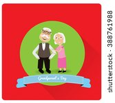 pair of grandparents on a... | Shutterstock .eps vector #388761988