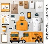 vector food truck corporate... | Shutterstock .eps vector #388767016