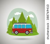 camping vehicle design  | Shutterstock .eps vector #388769410