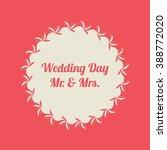 vintage round banner. wedding... | Shutterstock . vector #388772020