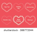 white frames in shape of heart... | Shutterstock . vector #388772044