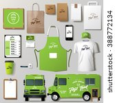 vector food truck corporate... | Shutterstock .eps vector #388772134