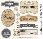 vintage style frames  banners... | Shutterstock .eps vector #388772200