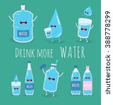 water set. funny big and small... | Shutterstock .eps vector #388778299