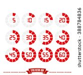 digital timer icon vector... | Shutterstock .eps vector #388784836