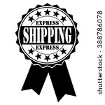 express shipping icon on a... | Shutterstock .eps vector #388786078