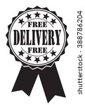 free delivery icon on a white ... | Shutterstock .eps vector #388786204