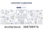 doodle illustration of curator... | Shutterstock .eps vector #388788976