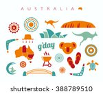 australia icon set   vector... | Shutterstock .eps vector #388789510