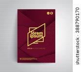 geometric title sheet design.... | Shutterstock .eps vector #388790170