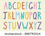 funny long letters. cartoon... | Shutterstock .eps vector #388790314