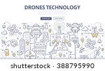 doodle vector illustration of... | Shutterstock .eps vector #388795990