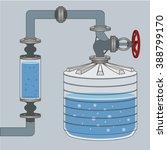 infographics scheme with liquid ... | Shutterstock .eps vector #388799170