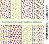 8 seamless cute patterns with... | Shutterstock .eps vector #388801444