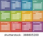 simple colorful calendar for... | Shutterstock .eps vector #388805200