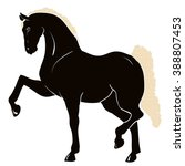 silhouette of a circus horse | Shutterstock .eps vector #388807453